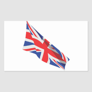 I Heart the UK/Union Jack Flag Rectangular Sticker