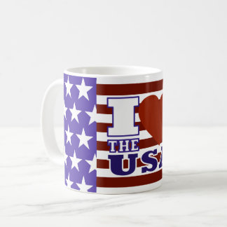 "I ""Heart"" The USA - Mug"