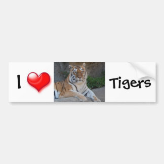 I Heart Tigers Bumper Sticker