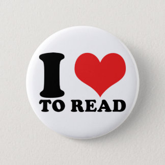 I Heart To Read 6 Cm Round Badge