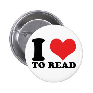 I Heart To Read Pinback Buttons