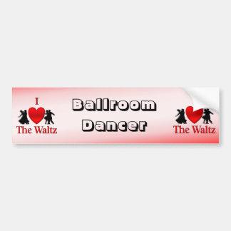 I Heart To Waltz Bumper Sticker