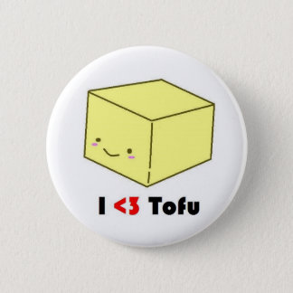I heart Tofu 6 Cm Round Badge
