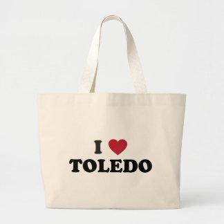 I Heart Toledo Ohio Tote Bags