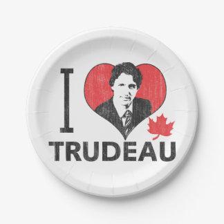 I Heart Trudeau Paper Plate