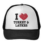 I Heart Turkeys Latkes Mesh Hat
