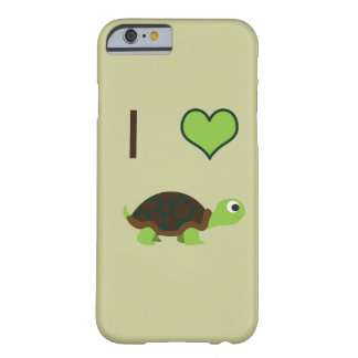 I heart turtles barely there iPhone 6 case