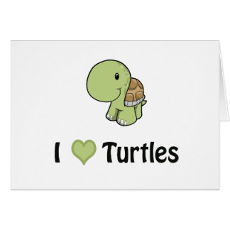 I heart turtles card