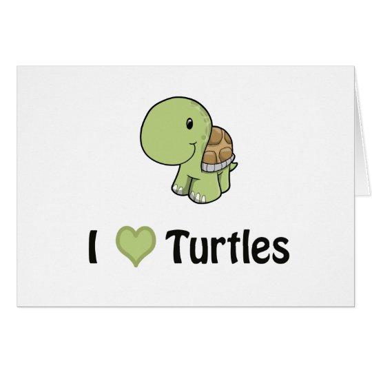 I heart turtles card