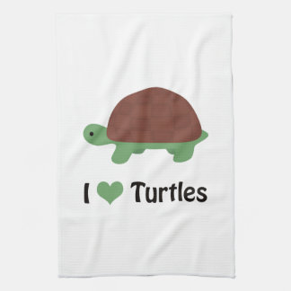 I heart turtles! kitchen towels
