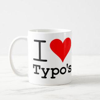 I Heart Typo's Basic White Mug