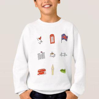 I Heart UK, British Love, United Kingdom Landmarks Sweatshirt