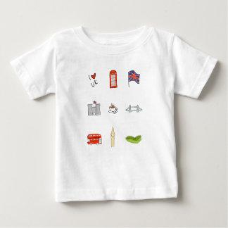 I Heart United Kingdom, British Love, UK landmarks Baby T-Shirt