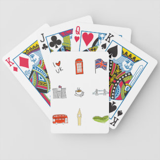 I Heart United Kingdom, British Love, UK landmarks Bicycle Playing Cards