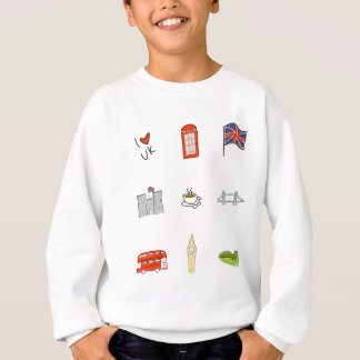 I Heart United Kingdom, British Love, UK landmarks Sweatshirt