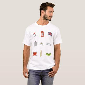 I Heart United Kingdom, British Love, UK landmarks T-Shirt