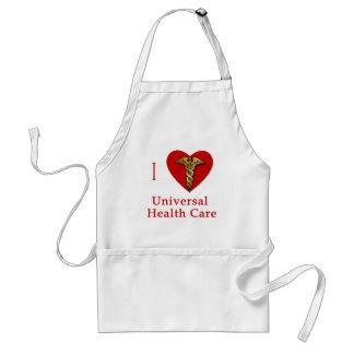 I Heart Universal Health Care Coverage Standard Apron
