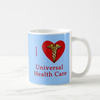 I Heart Universal Health Care Coverage Basic White Mug