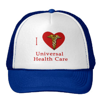 I Heart Universal Health Care Coverage Hats