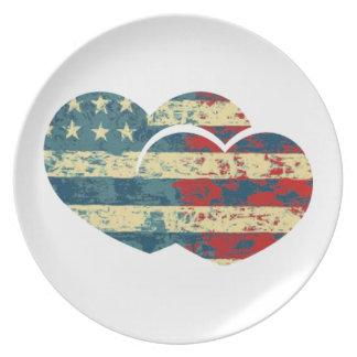 I Heart USA Dinner Plates