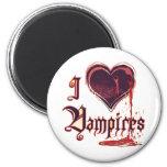 I Heart Vampires Fridge Magnet