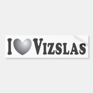 I Heart Vizslas - Bumper Sticker