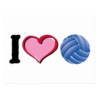I heart volleyball postcard