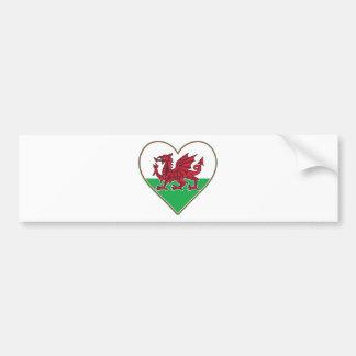 I Heart Wales Bumper Stickers