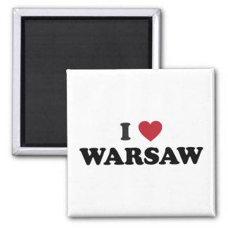 I Heart Warsaw Poland Magnet