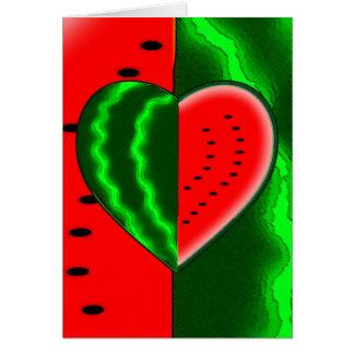 I (Heart) Watermelon Greeting Card