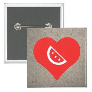 I Heart Watermelon Seeds Icon 15 Cm Square Badge