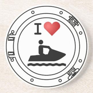 I Heart Waverunners Coaster