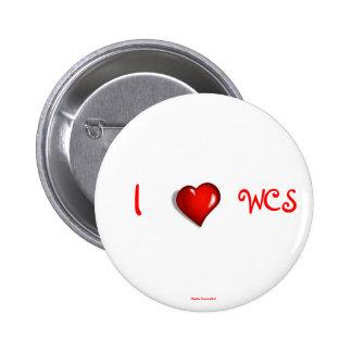I Heart WCS 6 Cm Round Badge