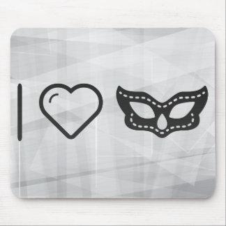 I Heart Wearing Masks Mouse Pad