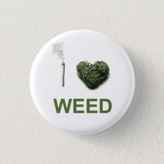 I Heart Weed 3 Cm Round Badge