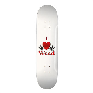 I Heart Weed Skate Board Decks