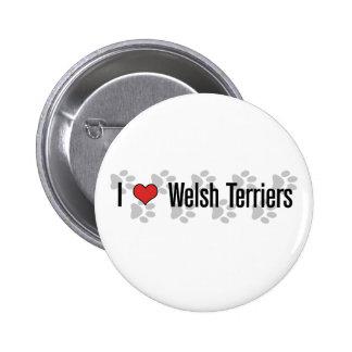 I (heart) Welsh Terriers Pinback Button