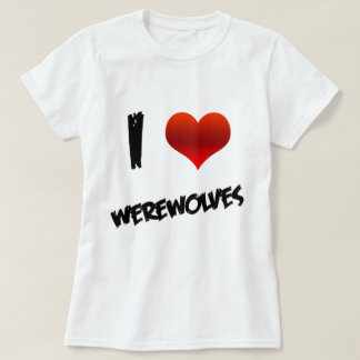 I Heart Werewolves T-Shirt