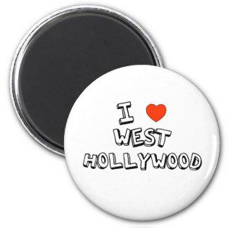 I Heart West Hollywood 6 Cm Round Magnet