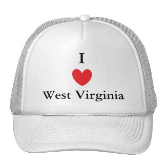 I Heart West Virginia Mesh Hat