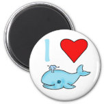 I Heart Whales Products 6 Cm Round Magnet
