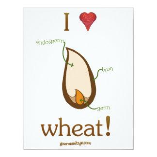 """I Heart Wheat! 4.25"""" X 5.5"""" Invitation Card"""