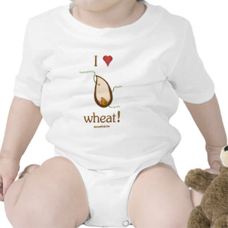 I Heart Wheat! Baby Bodysuits