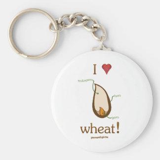 I Heart Wheat! Keychains