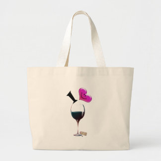 I Heart Wine Large Tote Bag