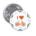 I Heart Winter Biking - Small Pin