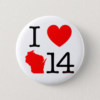 I Heart Wisconsin 14 6 Cm Round Badge