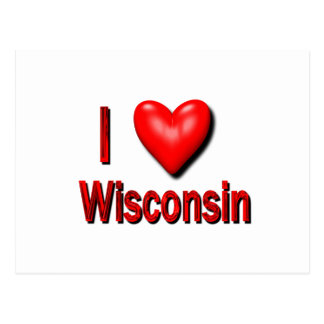 I Heart Wisconsin Postcard
