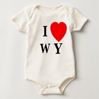 I heart WY - infant Baby Bodysuit