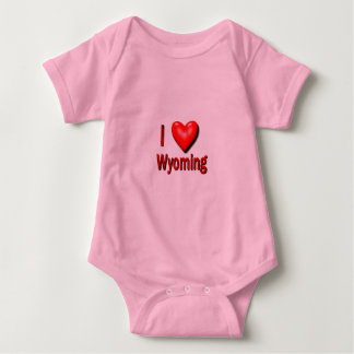 I Heart Wyoming Baby Bodysuit